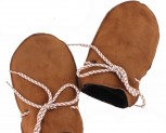 Baby Lammfell Fausthandschuh mit Band